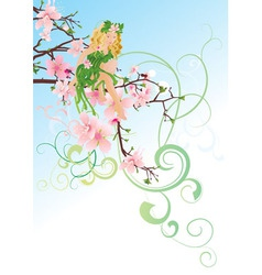 little green blond fairy vector image vector image