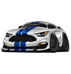 Modern American Muscle Car Cartoon vector image