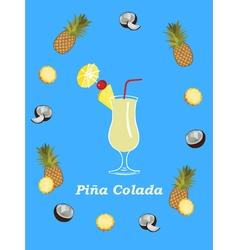 Pina colada poster vector