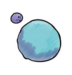 planet moon orbit vector image vector image