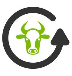refresh bull flat icon vector image vector image
