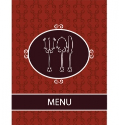 restaurant dinner menu vector image vector image