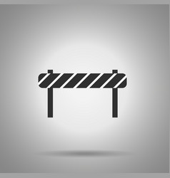 Road barrier icon striped road desk vector