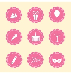 Set of party icons vector image vector image
