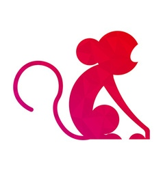 Silhouette of funny monkey Cartoon monkey vector image
