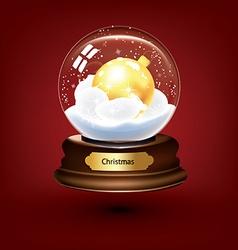 Snow globe background vector