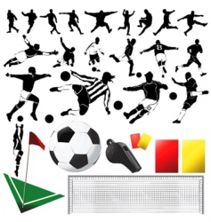 soccer vector and equipments vector image vector image