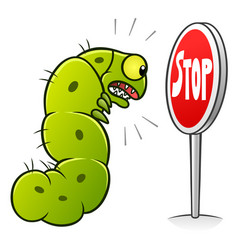 stop caterpillars vector image vector image