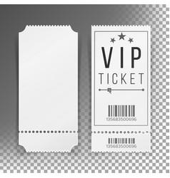 ticket template set blank theater cinema vector image vector image