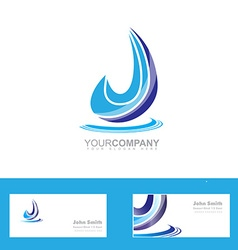 Water drop logo vector image