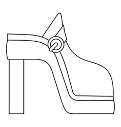 Women shoe icon outline style vector