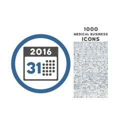 Last 2016 month day rounded icon with 1000 bonus vector