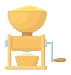 Meat grinder icon cartoon style vector image
