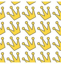 Gold yellow contour crown icon king queen princess vector