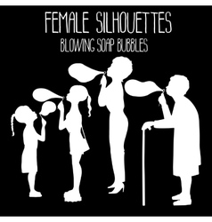 Graphic female sillhouettes vector image