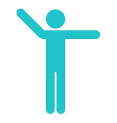 Man sign raised hands sport icon vector