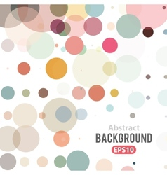 Abstract retro background with circles vector