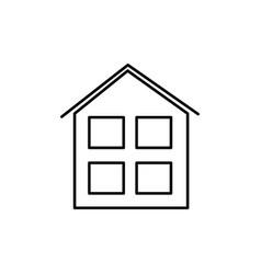 house windows icon vector image