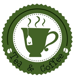 A round tea and coffee label vector