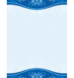 Blue background with decorative ornaments and hear vector