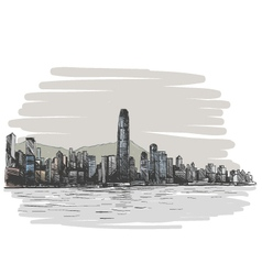 Hong kong drawing vector
