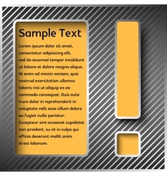 Information panel with an exclamation point vector