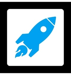Rocket launch icon from commerce buttons overcolor vector