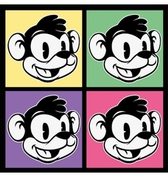 Vintage toons images of retro cartoon character vector