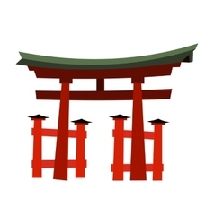 Japan gate - torii gate vector