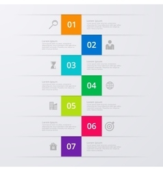 Infographics seven options vector