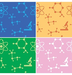 Seamless patterns - molecules - set vector