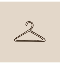 Hanger sketch icon vector