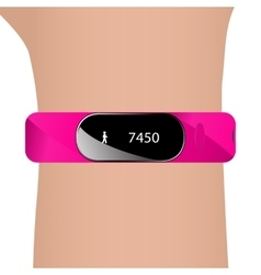 Fitness bracelet and hand vector