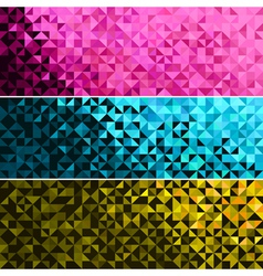 Abstract light brilliant banner vector