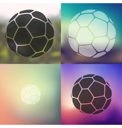 ball icon on blurred background vector image