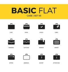 Basic set of case icons vector
