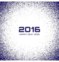 Blue - White New Year 2016 Snow Flake Background vector image vector image