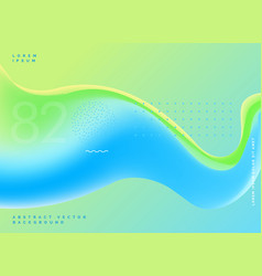 bright fluid colors modern blue green background vector image