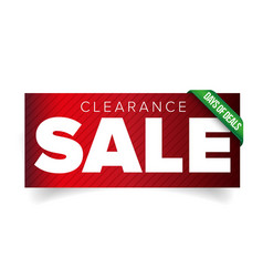 Clearance sale patch banner vector