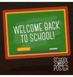 Cute school college university poster - school vector image vector image