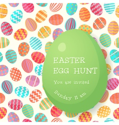 Easter egg hunt poster template vector