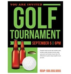 Golf tournament flyer template vector