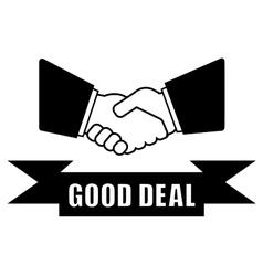 Good deal handshake icon vector
