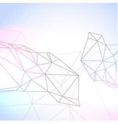 Graphic background with wire technology mesh vector