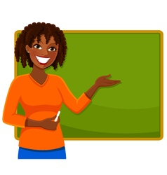 Happy teacher vector