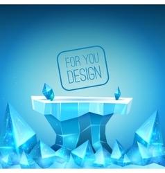 Ice backdrop vector