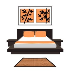 Japanese bedroom vector