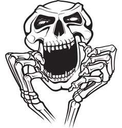 laughing skull vector image vector image