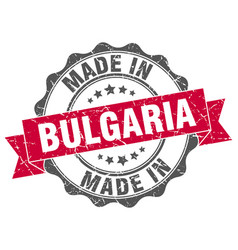 made in bulgaria round seal vector image vector image