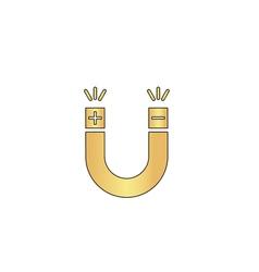 Magnet computer symbol vector image